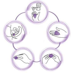 Подготовить менструальную чашу, начать использовать силиконовую капу