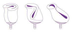 Как правильно сложить менструальную чашу перед введением внутрь